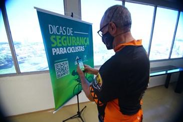 Apresentação da Cartilha Digital para Ciclistas. Foto: Claudio Vieira/PMSJC 20-08-2021